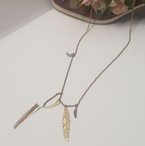 Unique Vintage Charm Leaf Necklace